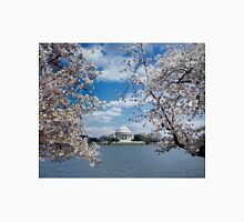 Thomas Jefferson Memorial with Cherry Blossoms Unisex T-Shirt