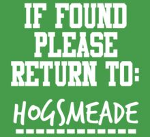 If Found, Please Return to Hogsmeade Kids Clothes