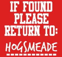 If Found, Please Return to Hogsmeade One Piece - Short Sleeve