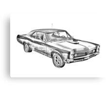 1967 Pontiac GTO Muscle Car Illustration Canvas Print