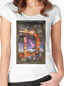 Steampunk - Alphabet - D is for Death Ray Women's Fitted Scoop T-Shirt