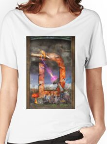 Steampunk - Alphabet - D is for Death Ray Women's Relaxed Fit T-Shirt