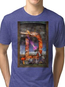 Steampunk - Alphabet - D is for Death Ray Tri-blend T-Shirt