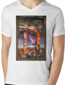 Steampunk - Alphabet - D is for Death Ray Mens V-Neck T-Shirt