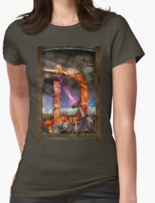 Steampunk - Alphabet - D is for Death Ray Womens Fitted T-Shirt