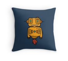 Ethnic Robot Throw Pillow