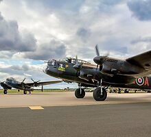 Two Lancasters taxying out at Waddington by Colin Smedley