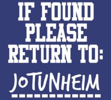 If Found, Please Return to Jotunheim by rexannakay