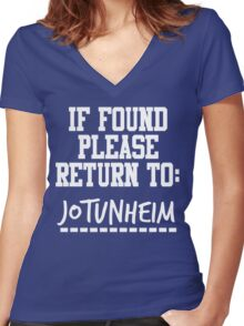 If Found, Please Return to Jotunheim Women's Fitted V-Neck T-Shirt