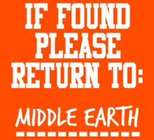 If Found, Please Return to Middle Earth Kids Clothes