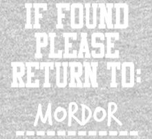 If Found, Please Return to Mordor One Piece - Long Sleeve