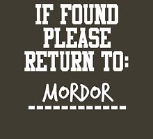If Found, Please Return to Mordor T-Shirt