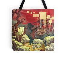 Red Ships Tote Bag