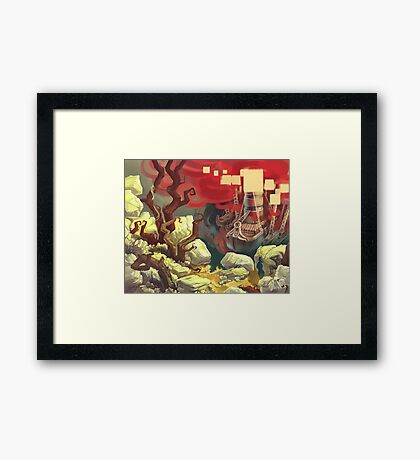 Red Ships Framed Print