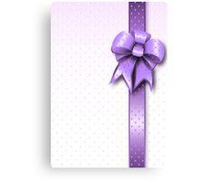 Lilac Present Bow Canvas Print