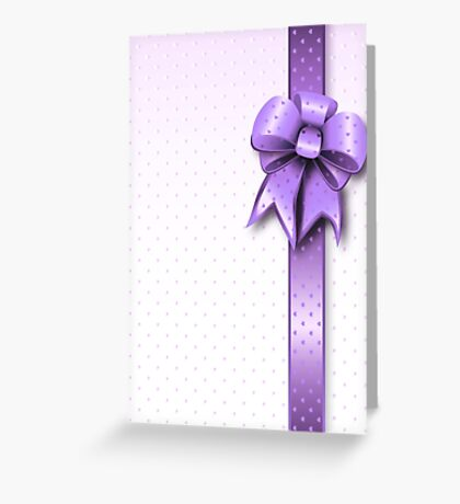 Lilac Present Bow Greeting Card