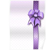Lilac Present Bow Poster