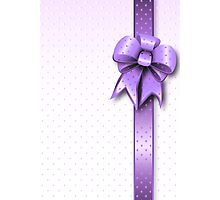 Lilac Present Bow Photographic Print