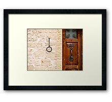 The Textures of San Marino Framed Print
