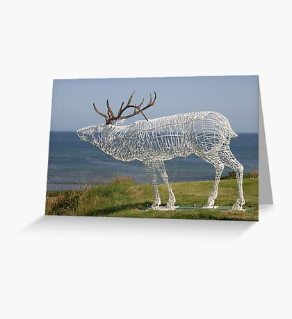 Stag Sculpture Greeting Card