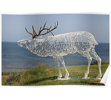 Stag Sculpture Poster