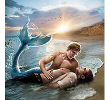 Merman Rescue Photographic Print