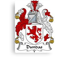 Dundas Coat of Arms / Dundas Family Crest Canvas Print
