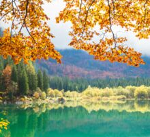 Autumn morning in the alps Sticker