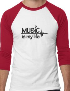 Music is my life Men's Baseball ¾ T-Shirt