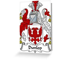 Dunlop Coat of Arms / Dunlop Family Crest Greeting Card