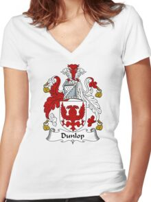 Dunlop Coat of Arms / Dunlop Family Crest Women's Fitted V-Neck T-Shirt