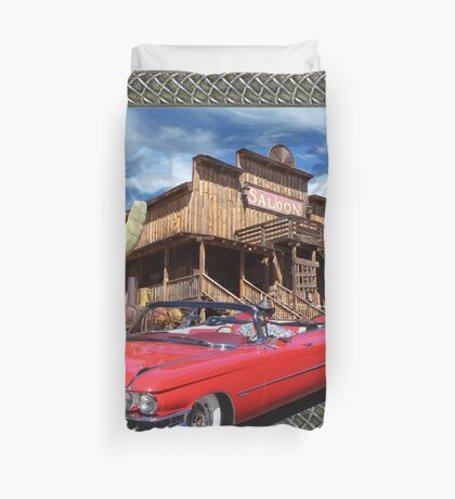 Cadillac in Town Duvet Cover