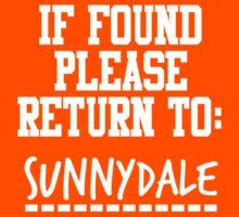If Found, Please Return to Sunnydale Kids Tee