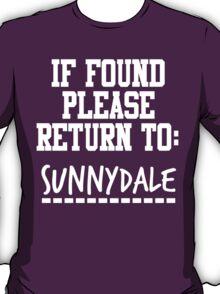 If Found, Please Return to Sunnydale T-Shirt