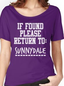 If Found, Please Return to Sunnydale Women's Relaxed Fit T-Shirt