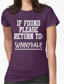 If Found, Please Return to Sunnydale Womens Fitted T-Shirt