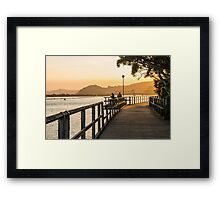Boardwalk Fishing Framed Print