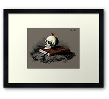 Death & The Butterfly Framed Print