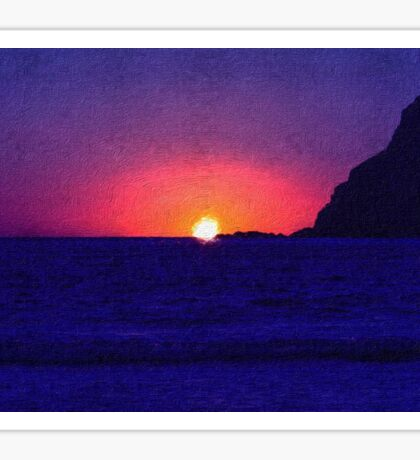 Sunset at Port Erin Sticker