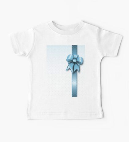 Turquoise Present Bow Baby Tee