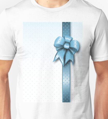 Turquoise Present Bow Unisex T-Shirt