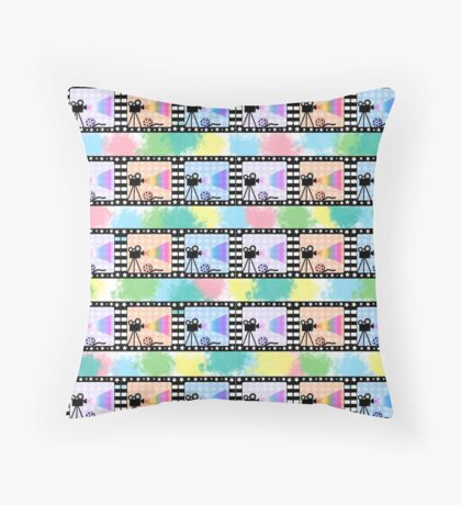 Movies and colors Throw Pillow