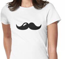 Mustache beard Womens Fitted T-Shirt