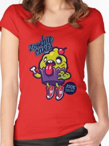 zombie cakes Women's Fitted Scoop T-Shirt