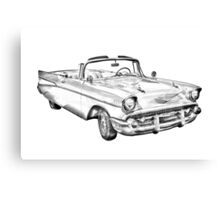 1957 Chevrolet Bel Air Convertible Illustration Canvas Print