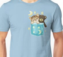 Sleepy Kitty In A Pocket Unisex T-Shirt