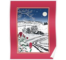 Silent Winter Night Silhouette Poster