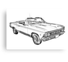 1966 Chevrolet Chevelle 283 Illustration Canvas Print