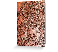 Skull in eyeland Greeting Card