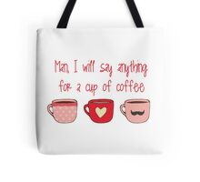 Gilmore girls- Man and coffee Tote Bag